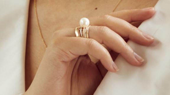 Catbird Gumball Pearl Ring