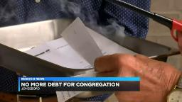 Region 8 church celebrates becoming debt-free by burning mortgage papers