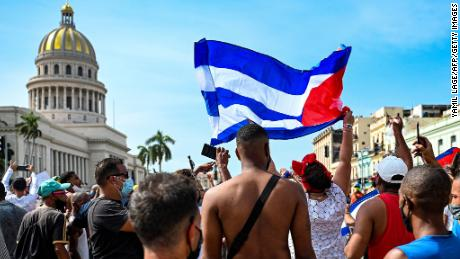 One reported dead in anti-government protests in Cuba