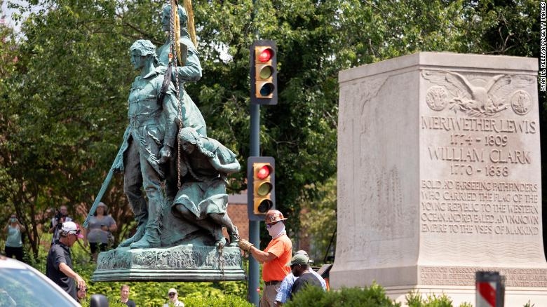Charlottesville removes Lewis and Clark statue featuring Sacagawea along with Confederate statues