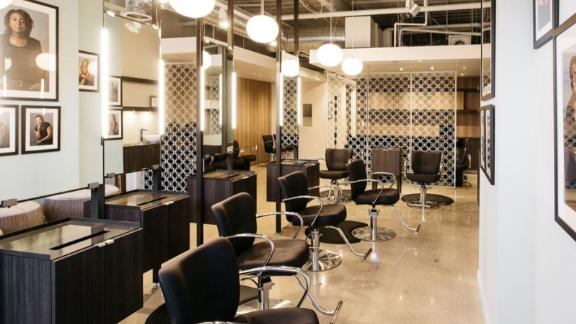 Everything from the salon's chairs to shampoo bottles have been optimized to be as efficient as possible.