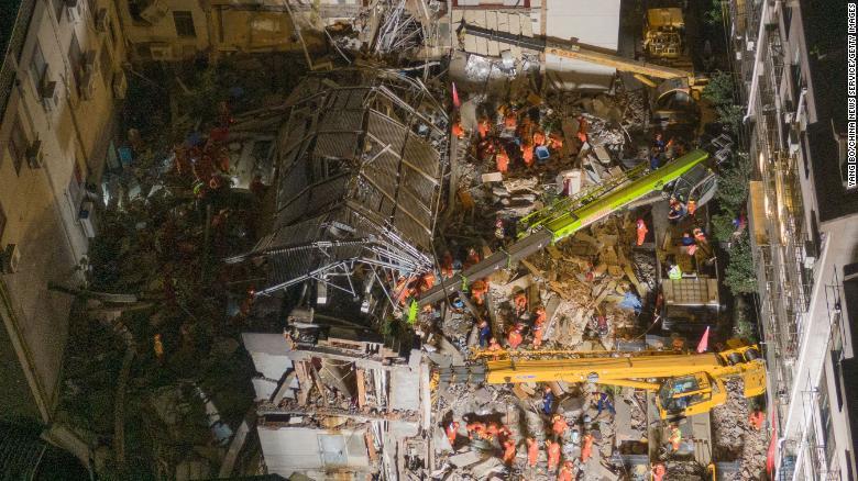 Hotel collapse in China's Jiangsu province kills eight
