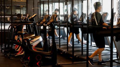 한국의 수도는 Covid 규모에 따라 체육관에서 활발한 운동을 금지합니다