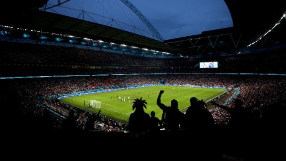 General view inside Wembley Stadium during the UEFA Euro 2020 Final.