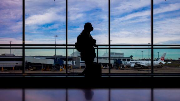 A traveler at Sydney Airport on June 23, 2021.