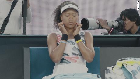 Naomi Osaka comme on le voit dans les docuseres Netflix.