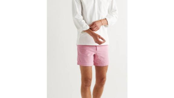 Drake's slim-fit cotton-corduroy chino shorts