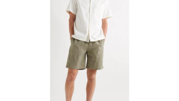 De Bonne Facture Washed Linen Drawstring Shorts