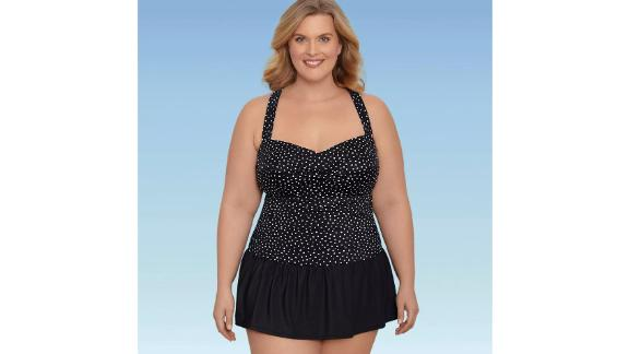 Dreamsuit by Miracle Brands Slimming Control Ruched Front One-Piece Swimsuit