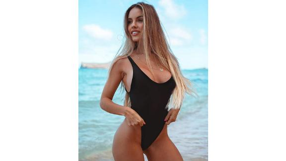 Relleciga High-Cut Low-Back One-Piece Thong Swimsuit
