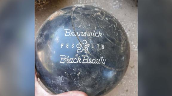 Some of the bowling balls had serial numbers and engravings that dated back to the 1950's.