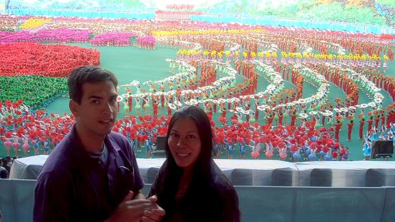 Cheng and Carlson visited North Korea on an organized tour in 2005. They returned in 2008, when they took this photo.