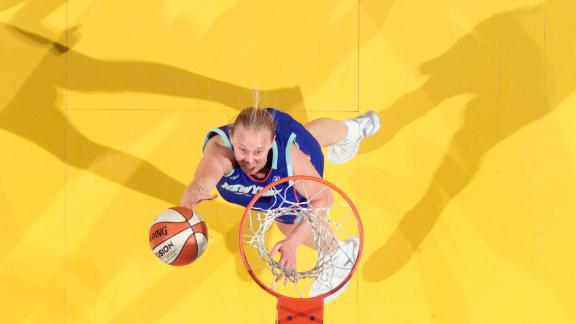 Wauters attempts a shot against the Indiana Fever back in 2005.