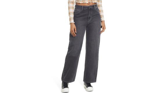 BP Contrast Stitch Wide-Leg Carpenter Jeans