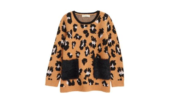 Tucker + Tate Kids' Fun Times Jacquard Pocket Tunic Sweater