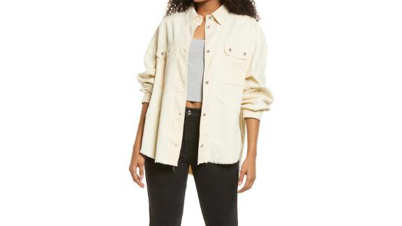 Thread & Supply Frayed Corduroy Shirt Jacket