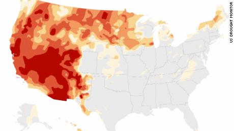 The West's historic drought in 3 maps