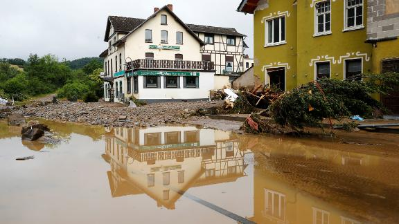 A flood-affected area of Schuld, Germany.