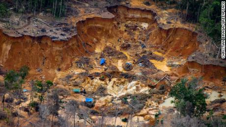 Miners have set up camps throughout the 24 million acre reserve.