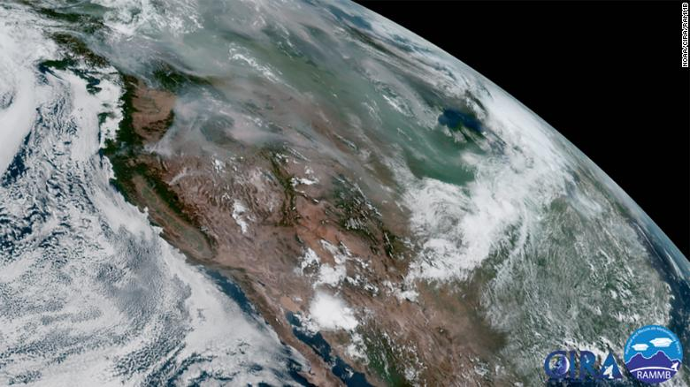 Wildfire smoke blankets the US from California to New York