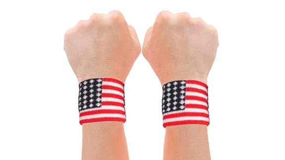 American Flag Sweatband Set