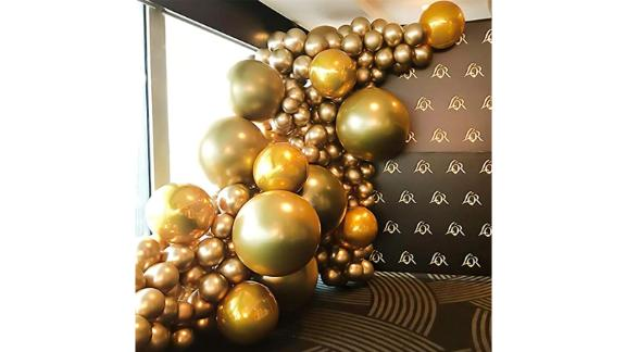 Nalwort Metallic Gold Balloon Kit