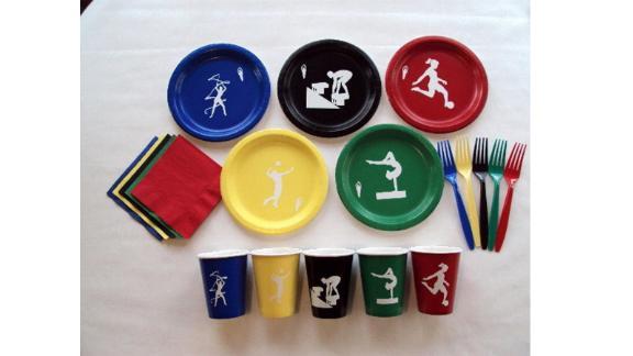 Summer Olympics Dinnerware Set for 5