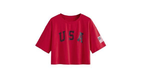 SweatyRocks Women's Short Sleeve Letter Print Summer T-Shirt