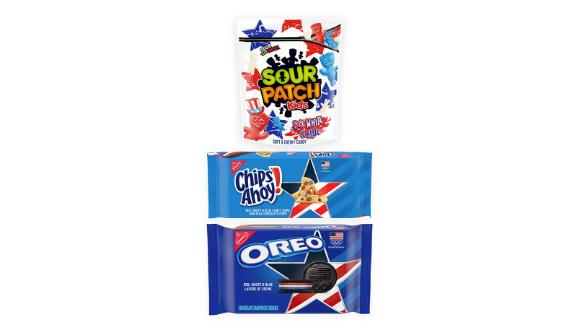 Team USA Oreo, Team USA Chips Ahoy!  & Kids Variety Pack Sour Patch Red, White & Blue