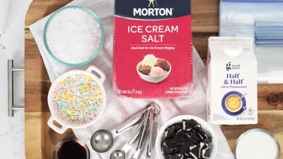 Homemade ice cream in a bag recipe