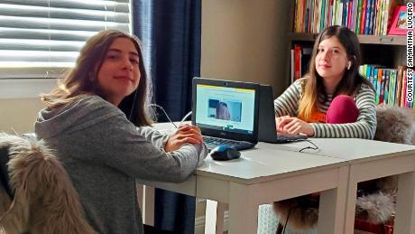 Samantha Lucero's two daughters prefer different learning methods