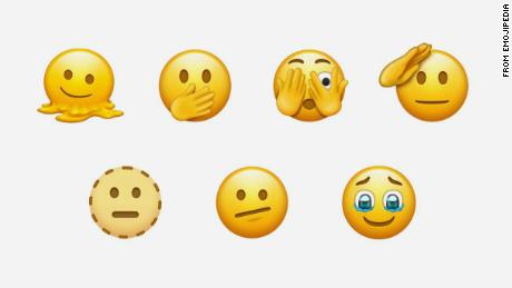 Future software may include new emoji face options, including a melting face and a saluting face