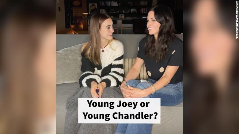 Courteney Cox's teen daughter chooses between 'young Joey or young Chandler'