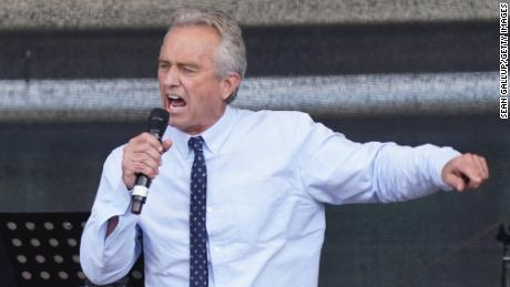 Robert F. Kennedy Jr., nephew of former U.S. President John F. Kennedy and a prominent figure in the anti-vaccination movement, in 2020.