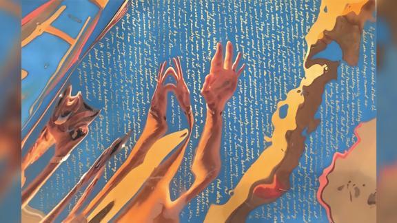 "A piece of art by Hunter Biden, ""Untitled #2, 2020"""