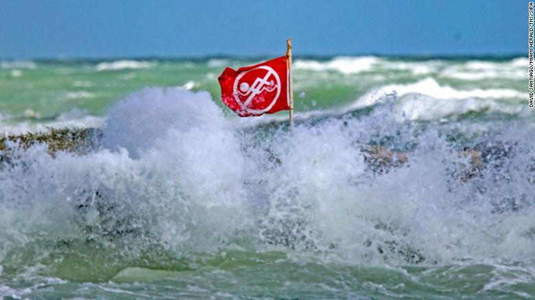 Rip currents and other surf conditions can pose danger at lakes, too