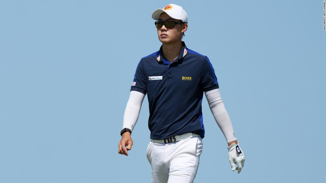 Thai golfer hits bunker shot from knees during the Open — and posts video on social media showing he'd practiced it beforehand