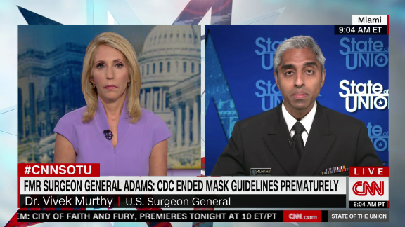 Image for Surgeon General on when he still wears a mask