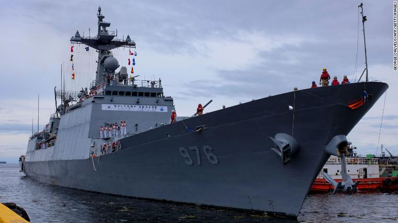More than 80% of the crew aboard a South Korean destroyer have tested positive for Covid-19