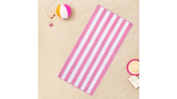 Sun Squad Cabana Striped Beach Towel