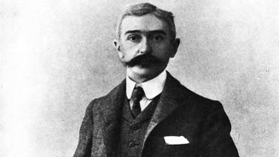 An undated photograph of Baron Pierre de Coubertin, founder of the modern Olympic Games.