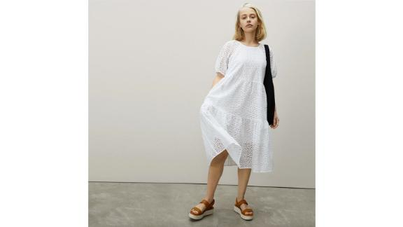 The Tiered Eyelet Dress