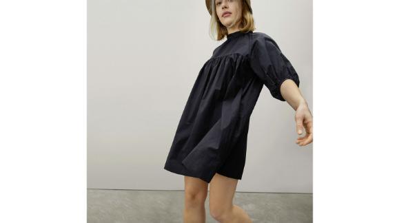 The gathered mini dress