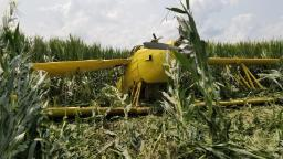 Crop duster crashes near Amana airport
