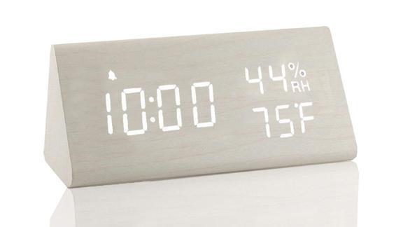 Jall wooden digital alarm clock