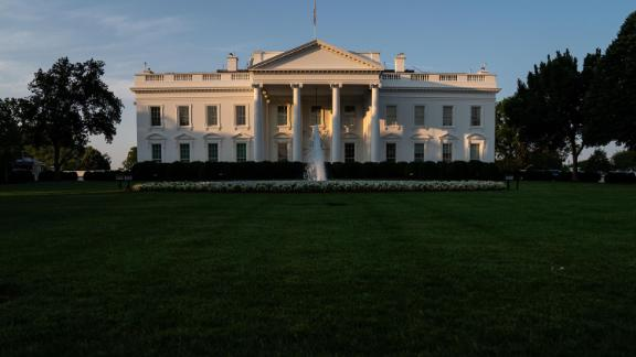 The White House, photographed on Friday, July 16, 2021.
