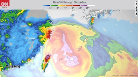 从台风一汽到周六都会下雨。