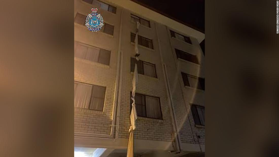 Man escapes hotel quarantine by tying bed sheets together
