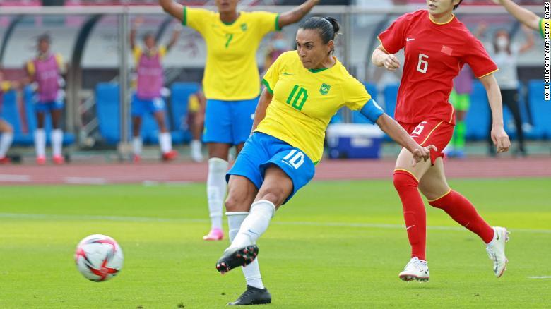 Brazil football legends Marta and Formiga create Olympic history