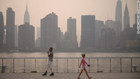 Smoke from Western wildfires stretched all the way to New York City this summer.